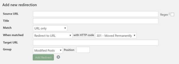 Plugin WordPress Redirection