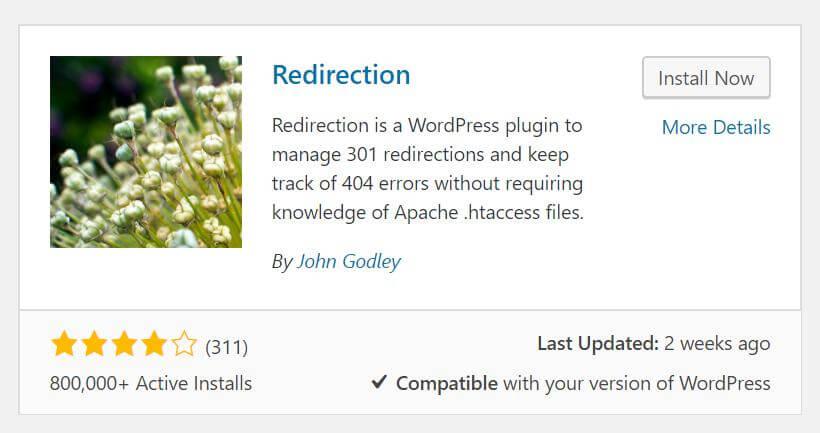 Plugin di WordPress per il reindirizzamento