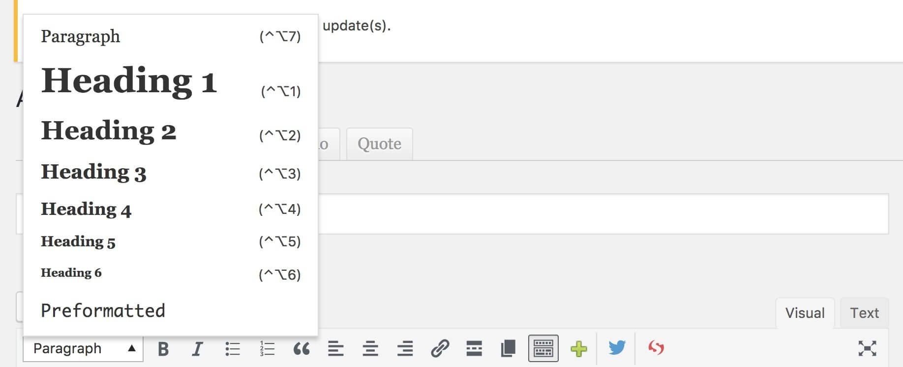 Heading tags per pagine web